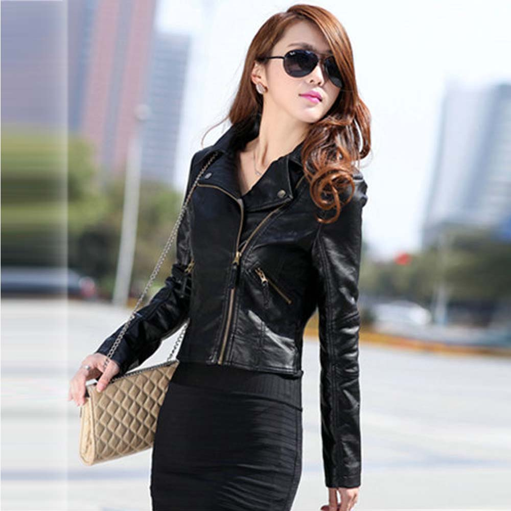Aliexpress.com : Buy Vintage Women PU Leather Jacket Fashion Slim ...