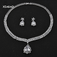 XIAGAO luxury jewelry set AAA+ cubic zirconia jewellry water drop fashion earring and necklace african jewelry sets jewellery