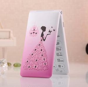Image 4 - Флип 2,4 с сенсорным экраном и двумя SIM картами, в режиме ожидания, русский, французский, испанский, для женщин и девушек, милый светодиодный фонарик, мобильный телефон GSM