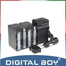 Digital Boy ( 4 pcs / 1 conjunto ) 2x NP – F970 NP F970 NPF970 6600 mAh li – ion batterie + chargeur + chargeur de voiture pour Sony NP – f960 NP – f950 NP – f930 z1