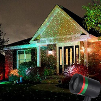 Laser Projector Show Light Outdoor Red Green LED Stage Spotlight Christmas Xmas Lawn Garden Sky Laser