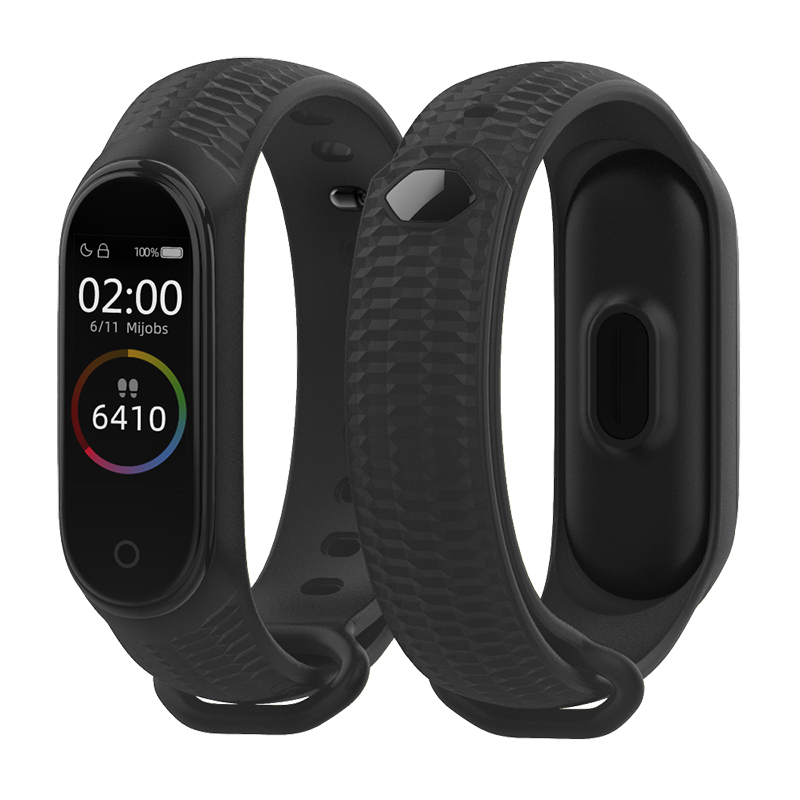 Mijobs Mi Band 4 Strap Aurora Wrist Strap For Xiaomi Miband 3 Bracelet Correa Mi Band 4 NFC Wristban Global Watch Accessories