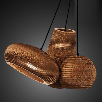 Creative Vintage loft Rural papier nid d'abeille pendentif lumières abat jour papier lanternes pour Bar café décoration lampe 110 240V - 3