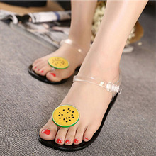 Fruit Flip Flops Jelly Beach Sandals Shoes Girls Women