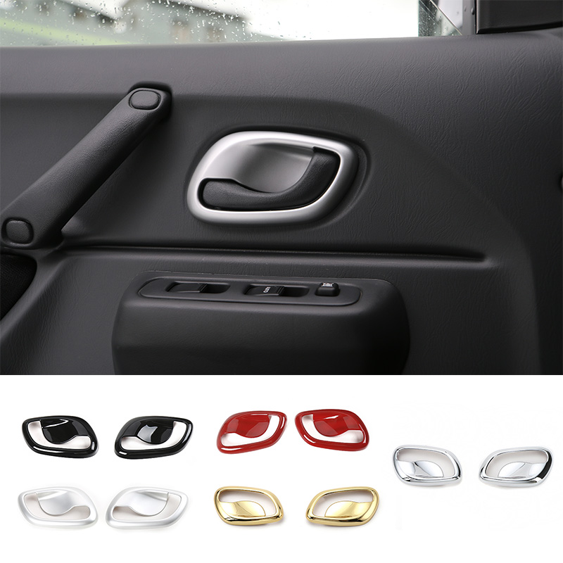 MOPAI High Quality 5 Colors ABS Car Interior Decorative Handle Bowl Cover Trim Sticker Fit For Suzuki Jimny Car Styling mopai abs exterior outer car body door side decorative sticker moulding trim car cover styling for suzuki jimny 2008 up