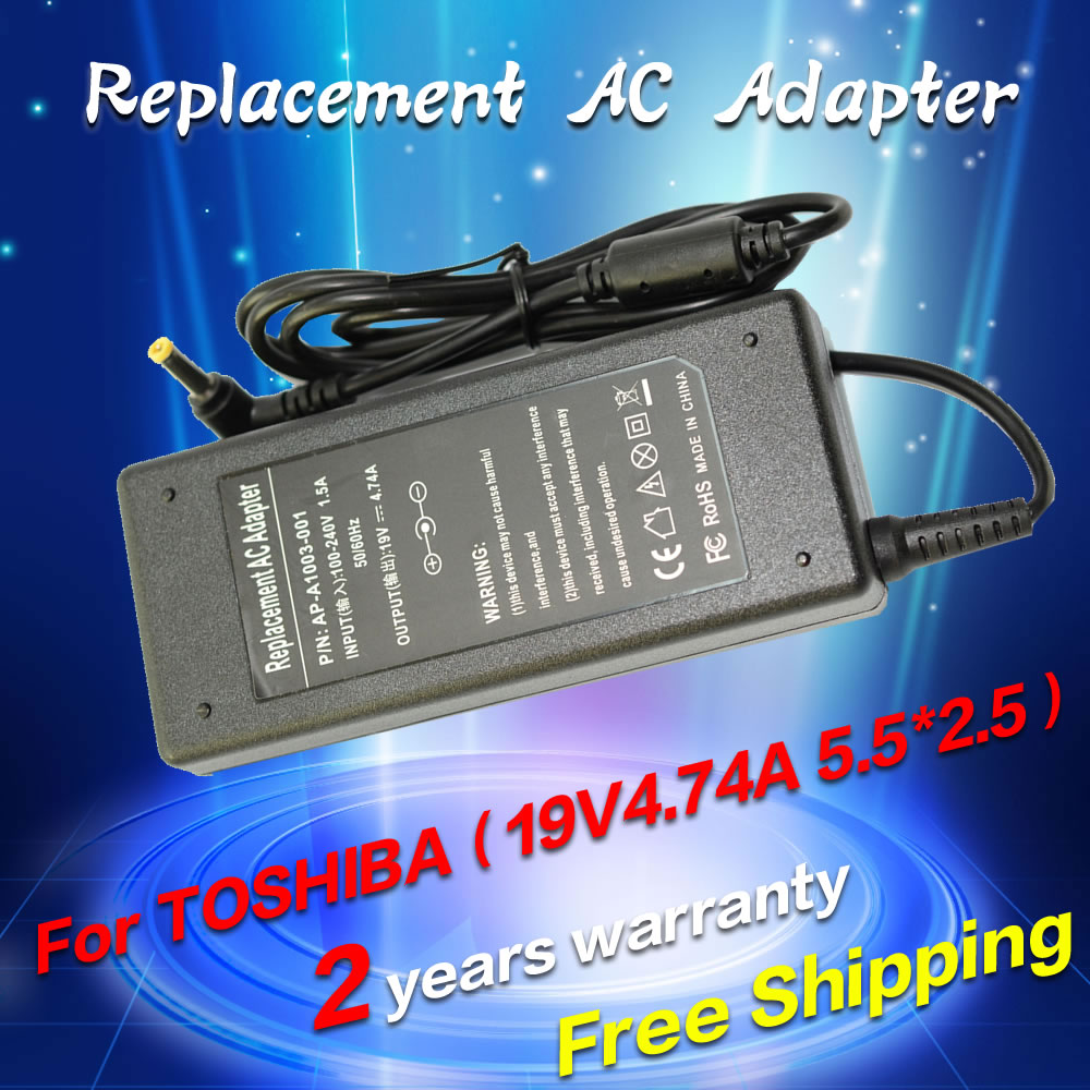 19V 4.74A 90w AC Power Adapter Laptop Charger For Toshiba Satellite A300 A200 A100 C850 L850 L850D L855 L750 L650 L500 M300