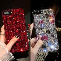 Women Fashion Bling 3D Crystal Diamond Case For IPhone 6 7 8 X Plus Rhinestone Jewelled