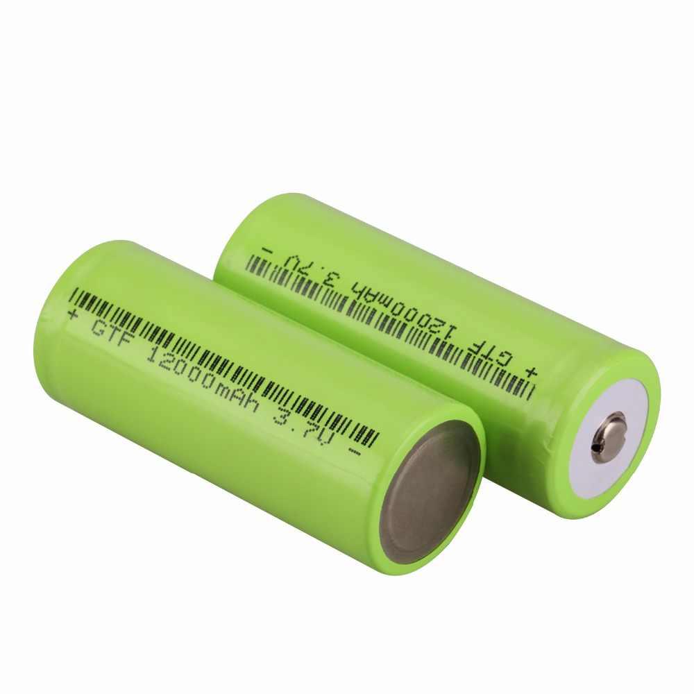 GTF 4 шт. 26650 наконечник 12000 мАч 26650 литий-ионный 3,7 в аккумулятор подходит для фонарей