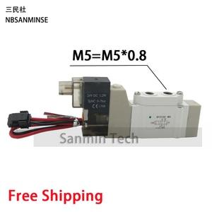 Image 4 - SY 3000 M5 G1/8 Pneumatic Mini Solenoid Valve  2 Position 5 Way Electromagnetic Valve SMC Type Automation NBSANMINSE