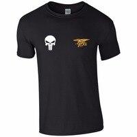 Nieuwste 2018 Fashion Stranger Dingen Mannen Print T-shirt Zomer Stijl Verenigde Staten Navy Seals Schedel Punisher Tee Shirt