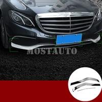 For Benz E Class W213 ABS Front Spoiler Bumper Lip & Corner Cover Trim 2017 2018 3pcs