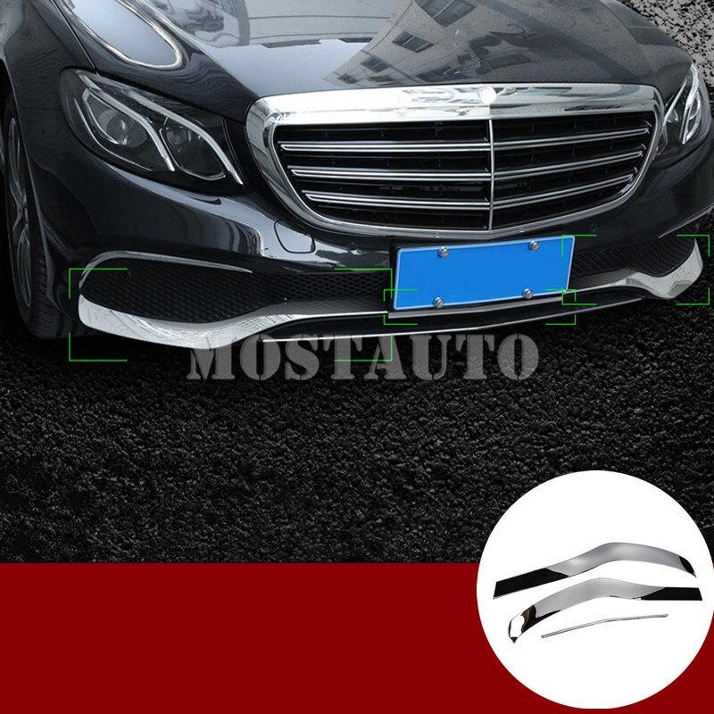 Pour Benz classe E W213 ABS avant Spoiler lèvre pare-chocs et coin couverture garniture 2017-2018 3 pièces
