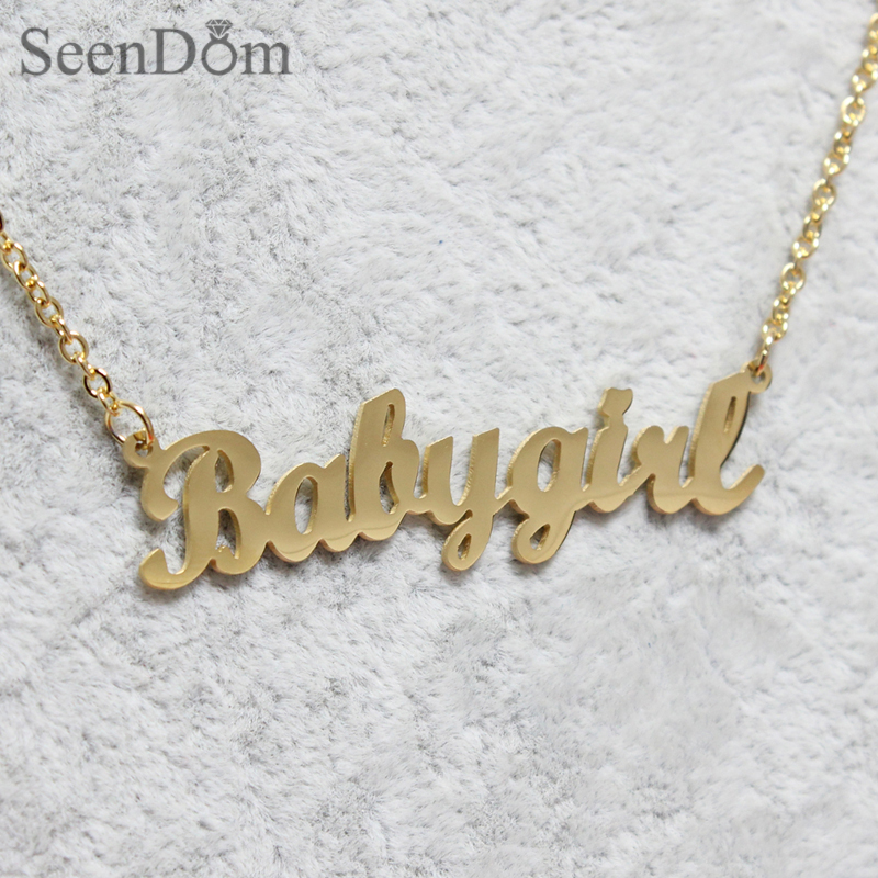 in pendant missguided babygirl lyst designer metallic girl necklace baby jewelry gold