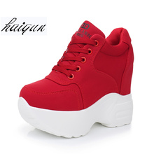 2019 Women Sneakers Mesh Casual Platform Trainers White Shoes 10CM