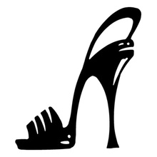 Car Stying  High Heel Stiletoo Shoe Cartoon Styling Sticker Vinyl Graphics Decals Jdm