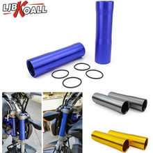 LJBKOALL Motorcycle Aluminum Front Fork Tube Slider Covers for Yamaha MT 07 FZ 07 MT-07 FZ-07 2014 2015 2016 2017 2018
