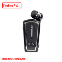 Fineblue F V3 Mini Retractable Stereo Bluetooth Headset Wireless Clip Headphones For IOS Android Bluetooth 4