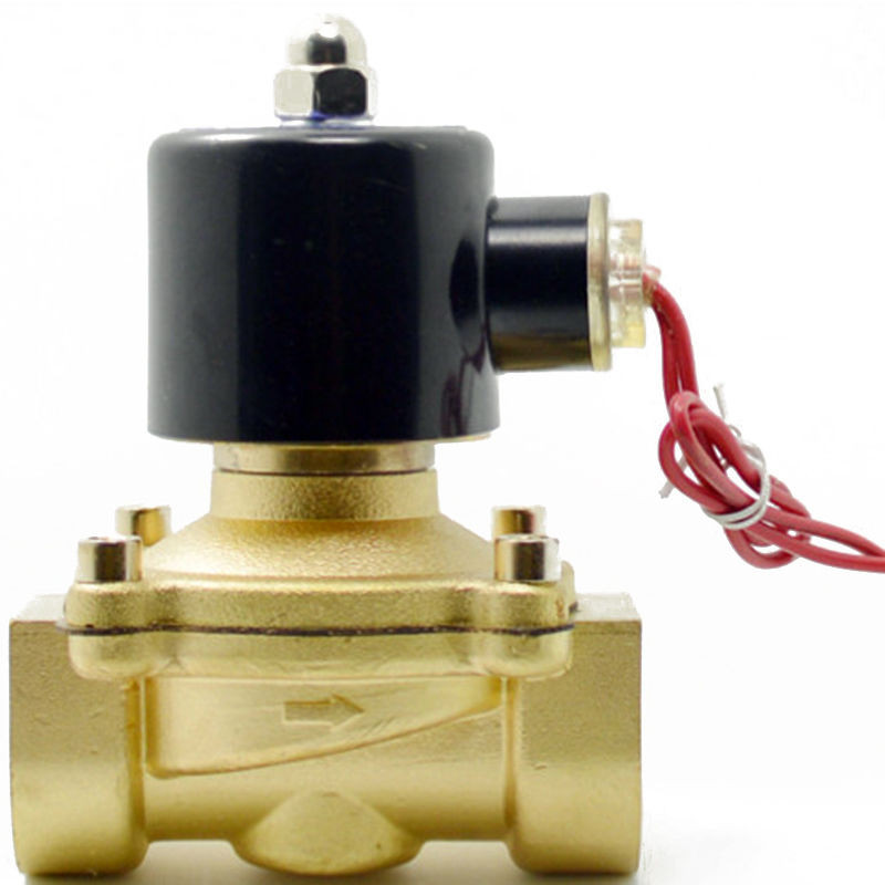 3/4 Inch Brass Electric Solenoid Valve Water Air Fuels N/C 2W-200-20  DC12V 24V AC110V 220V 2way2position ac110v 3 4 electric solenoid valve water air n c gas water air