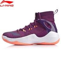 Li-Ning Для мужчин SONIC VI V2 Профессиональная баскетбольная обувь моно пряжи внутри облако подушки Спортивная обувь Кроссовки ABAN027 XYL197