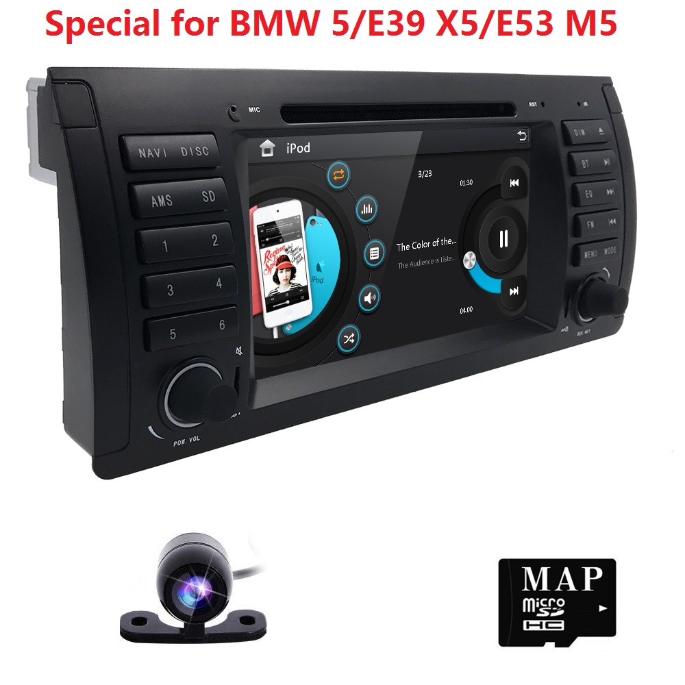 Wince 6.0 HD Touch screen 7 inch car dvd radio multimedia player For BMW X5 M5 E39 E53 with stereo video can bus BT SWC RDS CAM цены