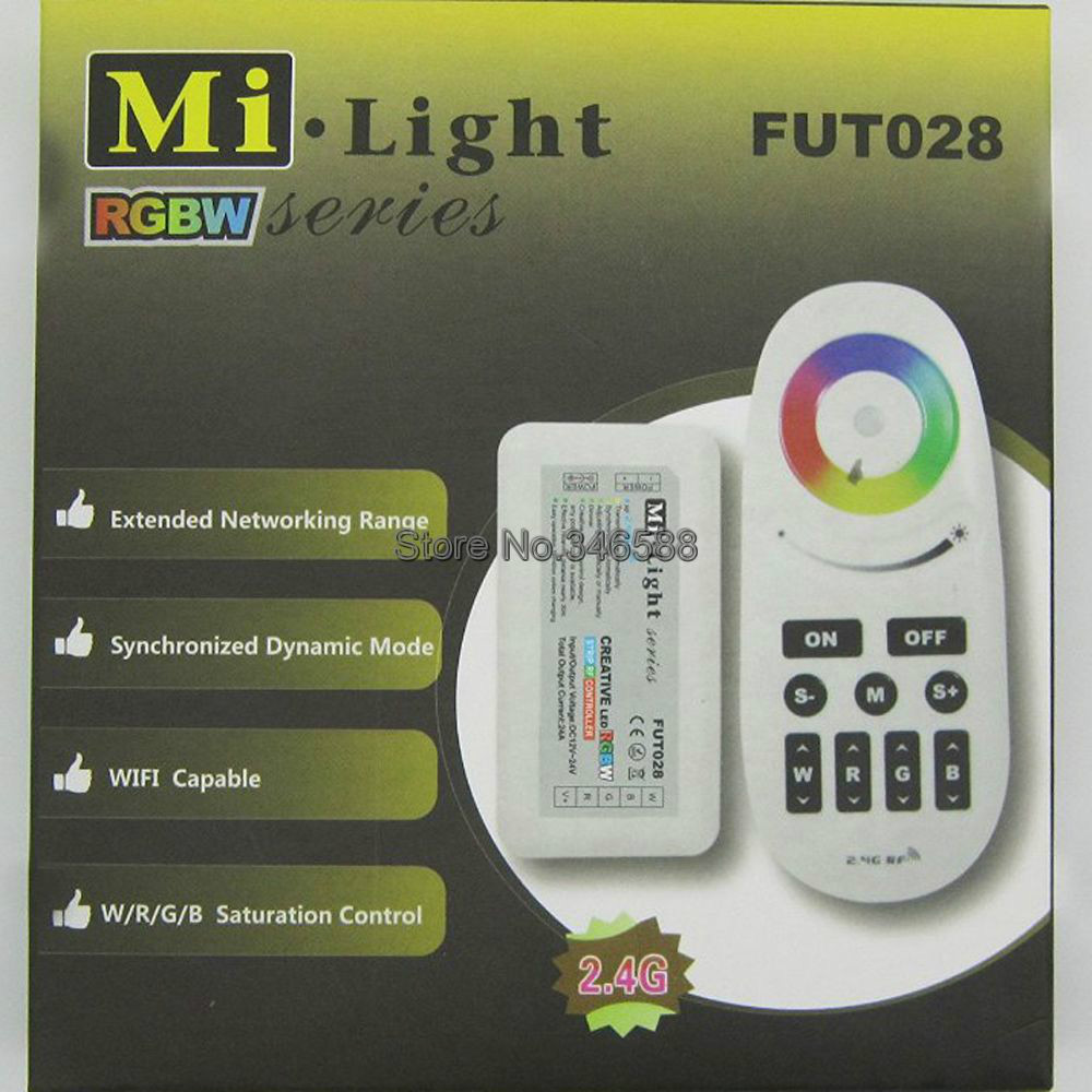 <font><b>FUT028</b></font> DC12V 24V 2.4G MI.Light RF Wireless Touch Panel RGBW LED Controller for RGBW LED Strip Light Tape image