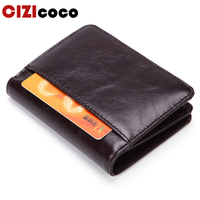 16616963891df Genuine Leather Wallet Men Brand Fashion Short Design Purses Male Gift ID  Credit Card Holder Slim. Echtes Leder Brieftasche Männer Marke ...