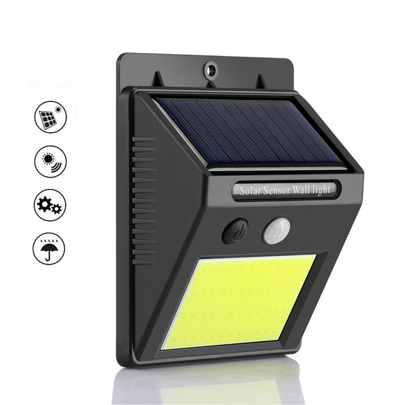 48 COB Solar Light Led Outdoor Solar Wall Light Garden Home Super Bright COB Wall Lamp Body Sensor Security Light Sun Powered48 COB Solar Light Led Outdoor Solar Wall Light Garden Home Super Bright COB Wall Lamp Body Sensor Security Light Sun Powered