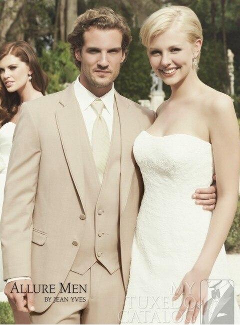 Handsome 4 Pieces New Design Mens Suits Men Business Dress 2 Buttons Wedding Suit For Men Groom Dresses Best Man Dresses