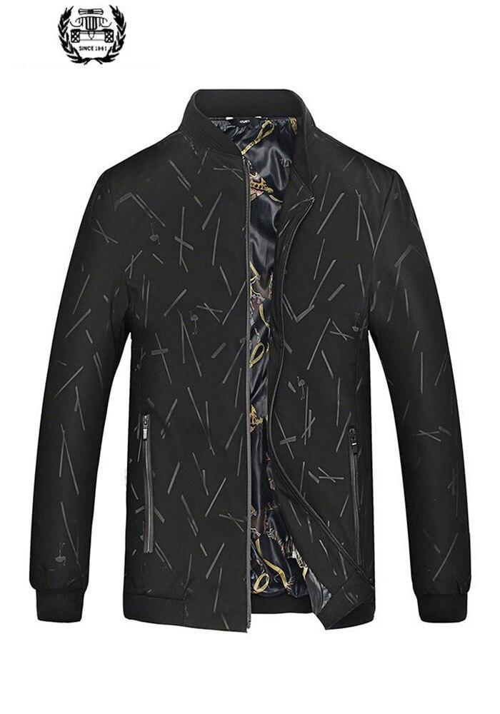 男性服 2019 春の新作ファッションジャケット 8XL メンズ薄型印刷されたカラー長袖ビッグサイズのジャケットコート男性服カジュアル  グループ上の メンズ服 からの ジャケット の中 1