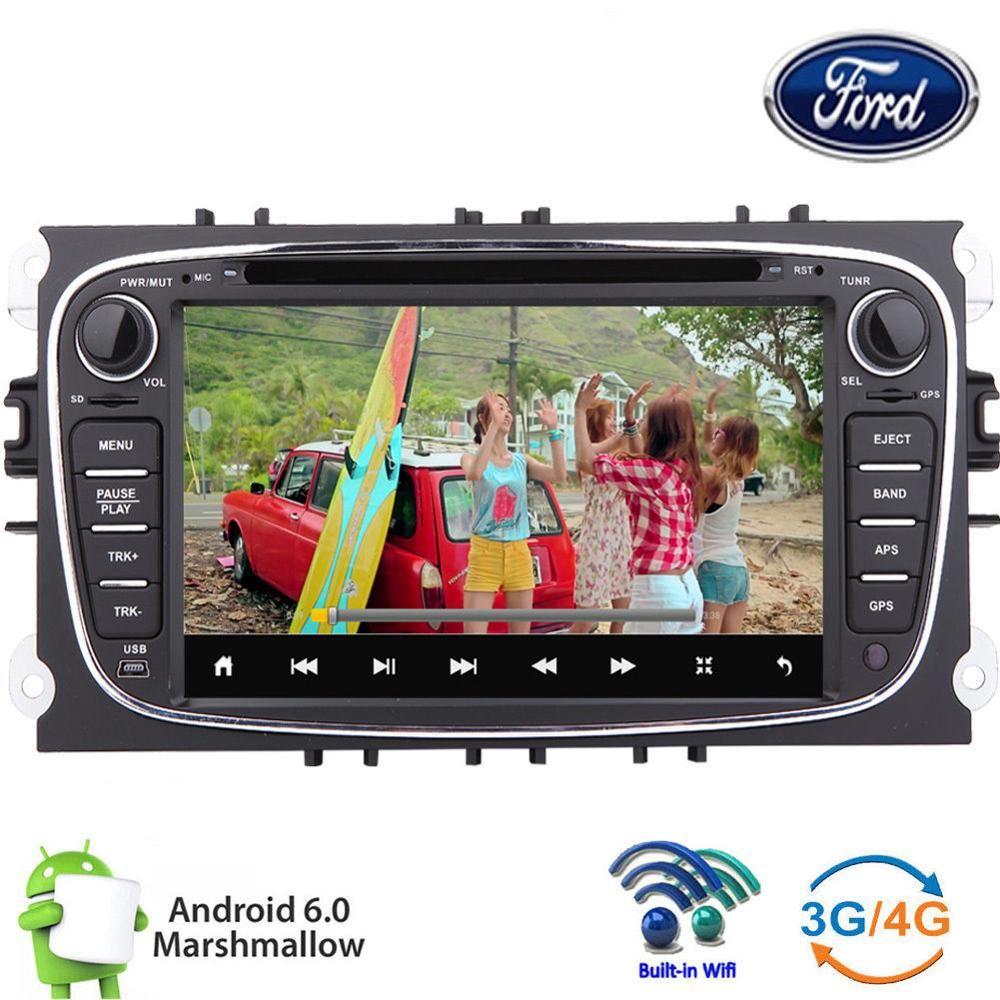 6.0 OS Car DVD Radio GPS Muti-media Player Stereo For Ford Focus Mondeo S-Max