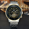 2016 New Military full Steel Brand Automatic Self-wind Relogios Masculino Watch Mechanical Fashion Luxury Watch Tourbillon Clock