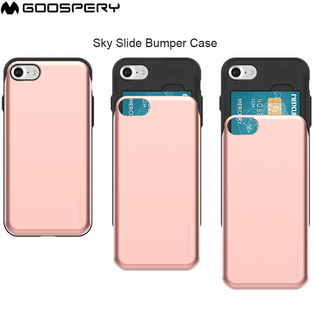 best service bf831 45865 US $6.7 15% OFF|GOOSPERY Sky Slide Card Slot Bumper Anti shock Cover Case  for iPhone 6 6S 7 8 Plus X -in Fitted Cases from Cellphones & ...