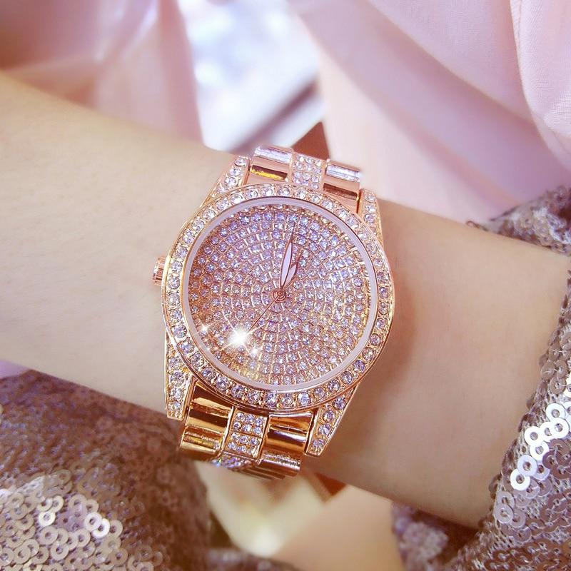 2018 नई गुलाब सोना क्वार्ट्ज - महिलाओं की घड़ियों
