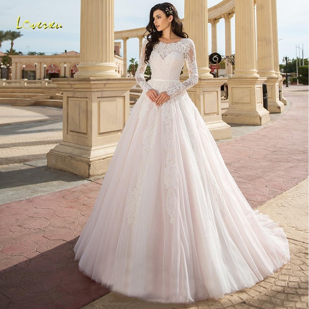 Loverxu Fabulous Scoop A Line Wedding Dress Delicate