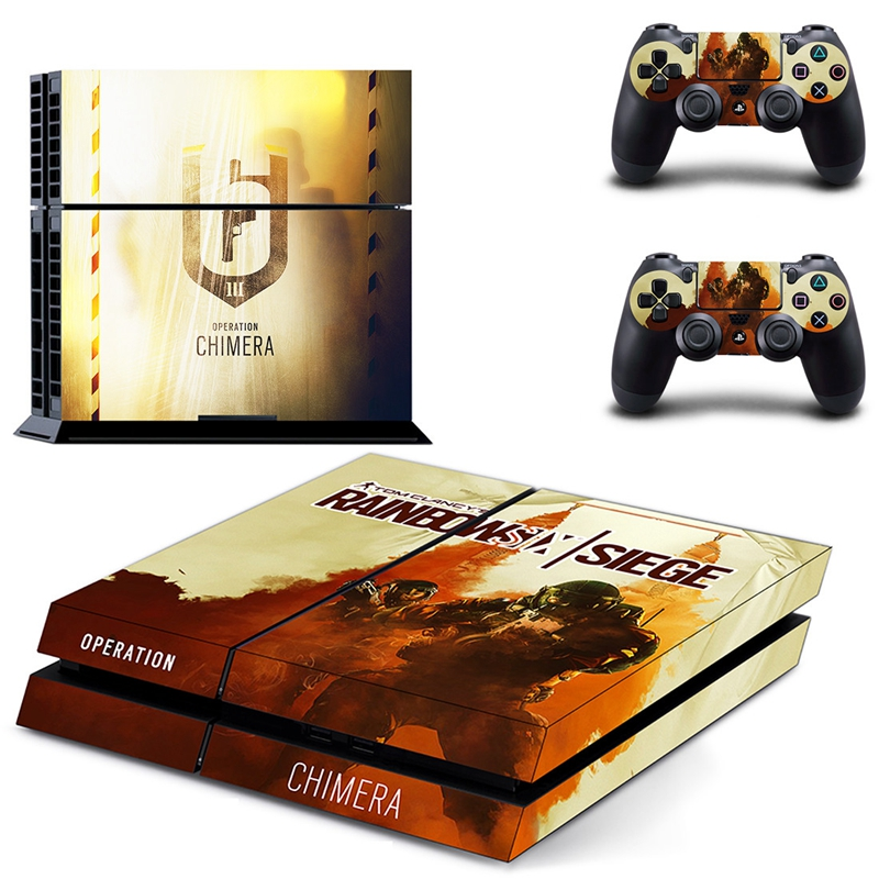 HOMEREALLY Stickers Classic Clancy's Rainbow Six PS4 Skin For Sony PlayStation 4 Console and Controller Skin Ps4 Accessory-in Stickers from Consumer Electronics