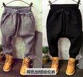 2016 nueva primavera otoño Niñas Niños Niños Grandes pp pantalones pantalones harén moda cómodo lindo bebé Ropa de Niños Ropa