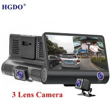 HGDO New 3 Lens Camera Car dvr 1080P 4.0 Video Recorder Rear View170 Degree Night Vision Registrator Dash Cam avtoregistrator