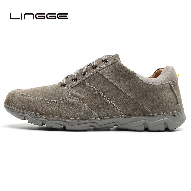 LINGGE Brand New Winter Men Shoes, High Quality Suede Men Casual Shoes FUR, Lace Up Warm PLUSH Casual Mens Snow Shoes #M5327-5 2017 spring brand new fashion pu stretch fabric men casual shoes high quality men casual shoes lace up casual shoes men 1709