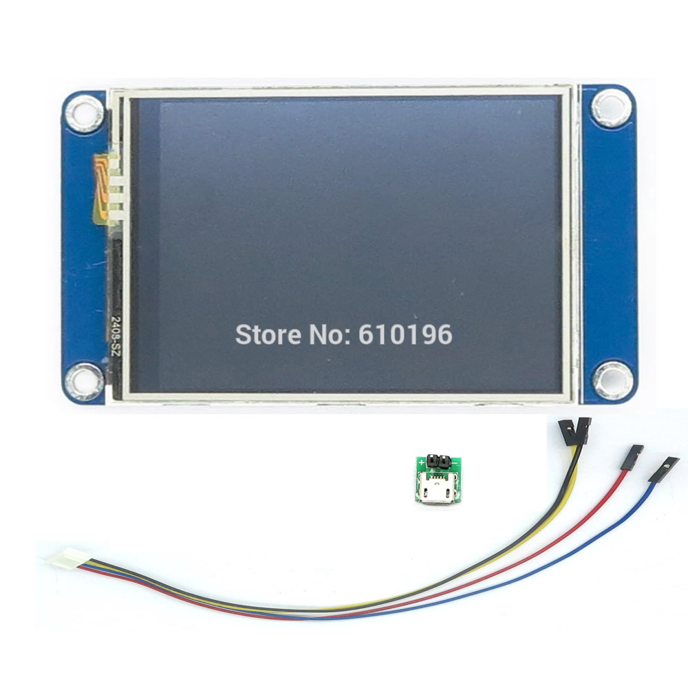 Aihasd English Nextion 2.4 TFT 320 x 240 Resistive Touch Screen UART HMI Smart raspberry pi LCD Module Display For Arduino TFT цена