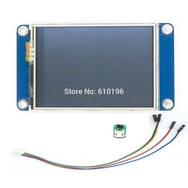 """Aihasd İngilizce Nextion 2.4 """"TFT 320x240 Rezistif Dokunmatik Ekran UART HMI Akıllı ahududu pi LCD modül ekran Arduino Için TFT"""