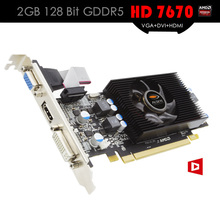 ALSEYE Video Card HD 7670 GPU 2GB 128Bit DDR5 Graphic Cards for Gaming PC Support VGA+DVI+HDMI PCI-E