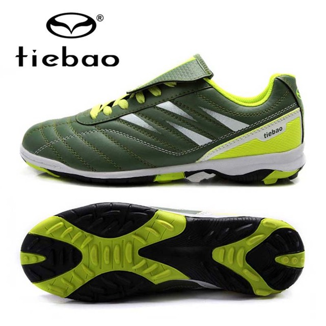 TIEBAO Professional Soccer Cleats Botas De Futbol Football Kids TF Turf Soles Soccer Boots Training Sneakers Scarpe Da Calcio