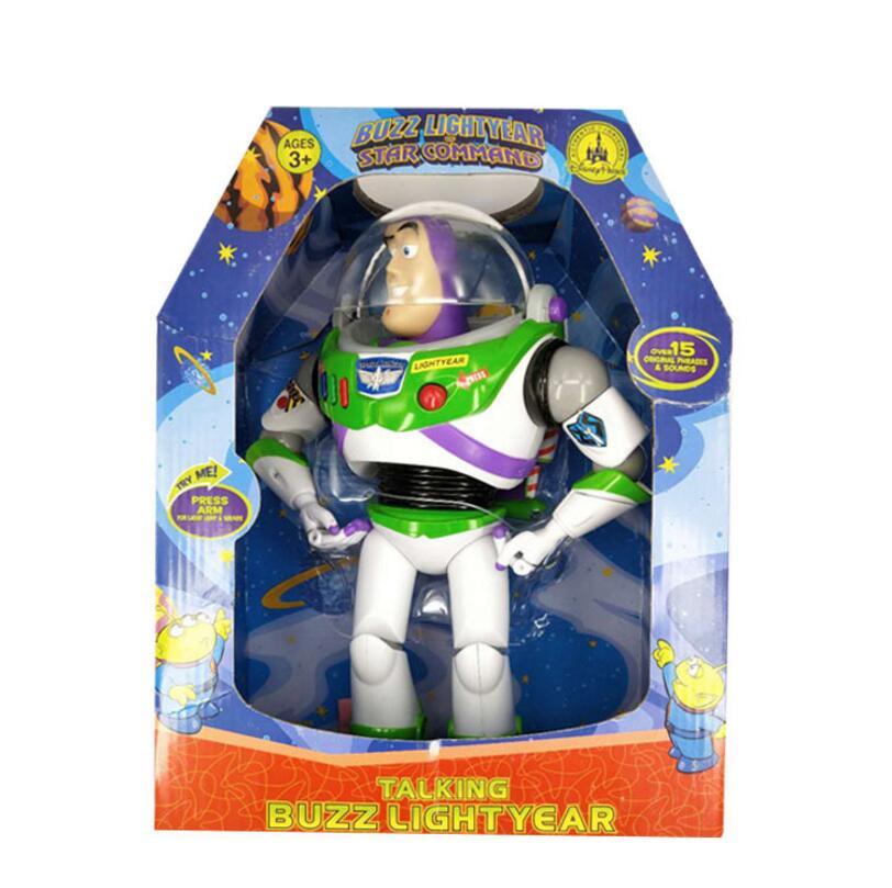 Toy Story 3 parler Buzz Lightyear jouets lumières voix parler anglais Joint mobile figurines jouets pour enfants cadeau