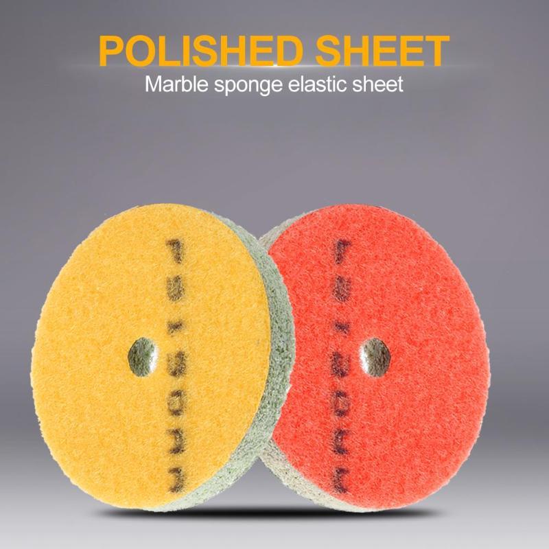 15mm 1pcs Sponge Polishing Pad Stone Wheel Abrasive Tool For Polishing Wet Useing Stone Buff Granite Marble Polishing Pads