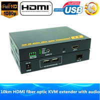 1080 P HDMI Волокно оптическое USB KVM Extender 10 км через Волокно 1200 P HDMI Волокно оптическое стерео аудио передатчик оптический конвертер видео