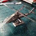 2017 nova ah-64 apache helicópteros jigsaw 3d clássico diy metálico Nano Crianças Enigma Modelo de avião Brinquedos Educativos presente 3D laster corte
