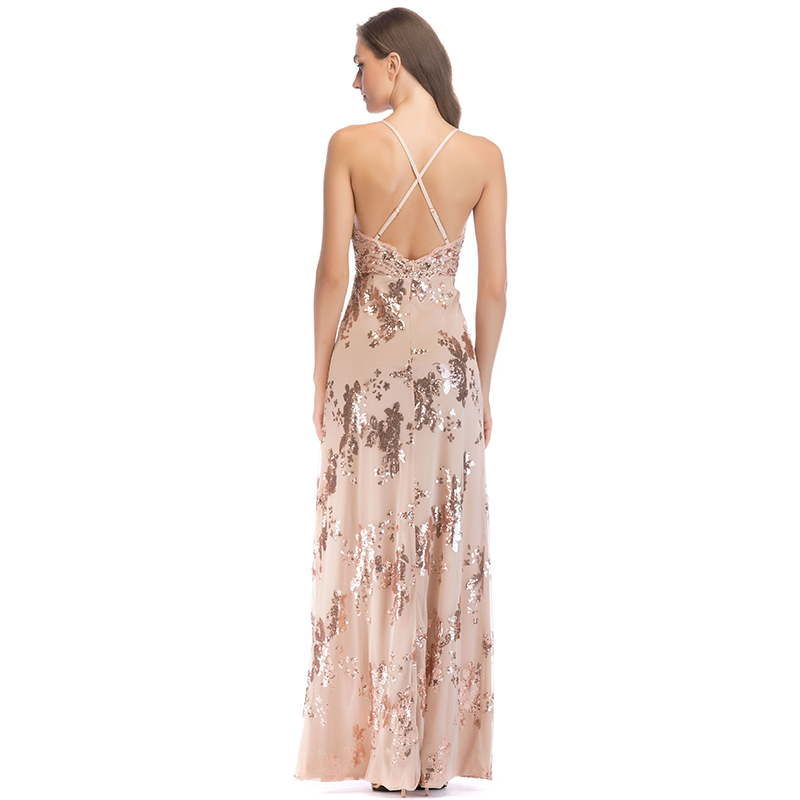 MUXU new embroidery sequin dress backless glitter womens clothing vestido plus size vestido strapless high quality long vestidos in Dresses from Women 39 s Clothing