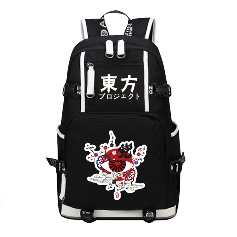 TouHou Project Kirisame Marisa Cosplay Women Backpack Mochila Feminina Anime School Bags Canvas Laptop Backpack Travel Bags