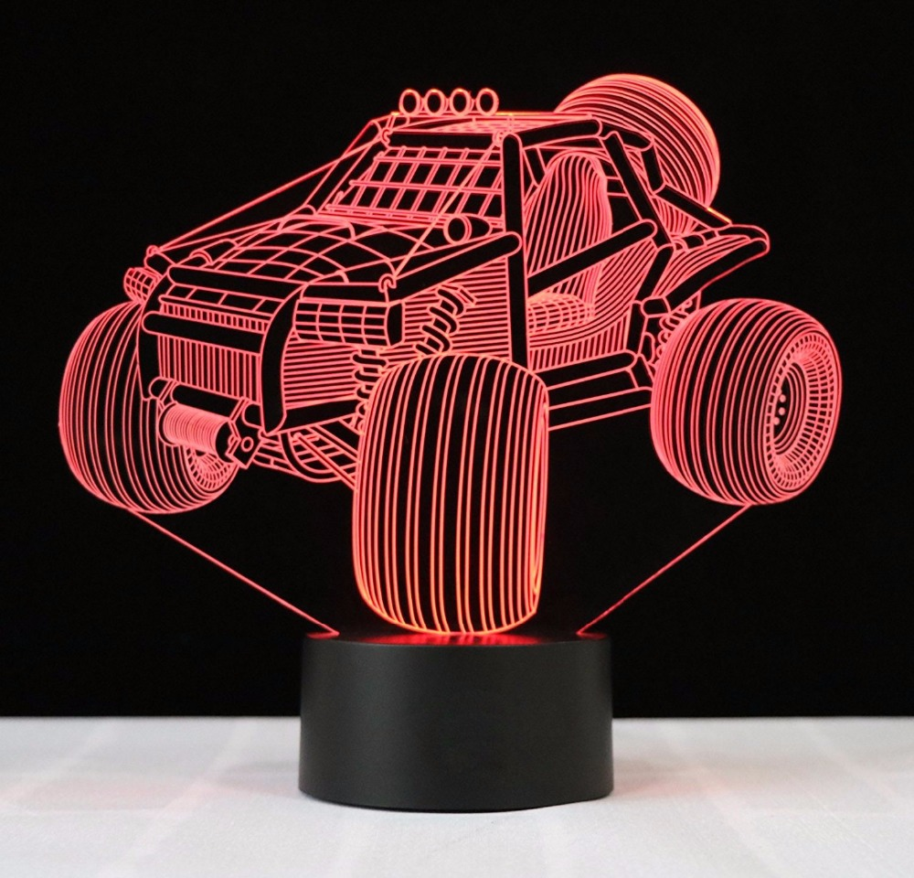 Cool 3D Suv Car Night Lamp Visual Led Night Lights USB 3D lights Colorful Touch Baby Bedroom 7 Colors Night Light Creative Gift