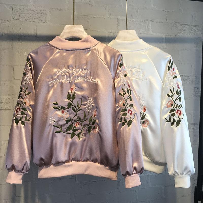 Casual mujer chaqueta de bombardero volantes cremalleras sueltas - Ropa de mujer